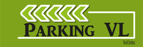 fléchage vert parking poids lourd boxprotec