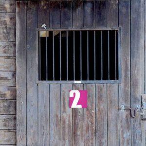 panneau numéro de box de 1 à 10