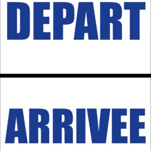 Panneau Départ/Arrivée-0