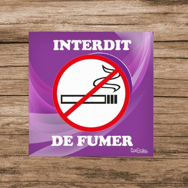 panneau interdit de fumer