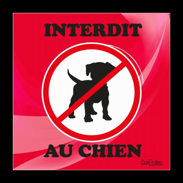 panneau interdit au chien rouge