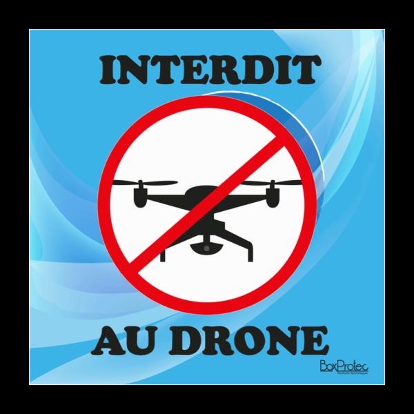 panneau interdit au drône bleu