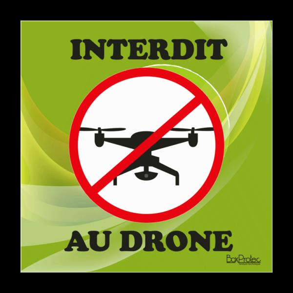 panneau interdit aux drônes vert