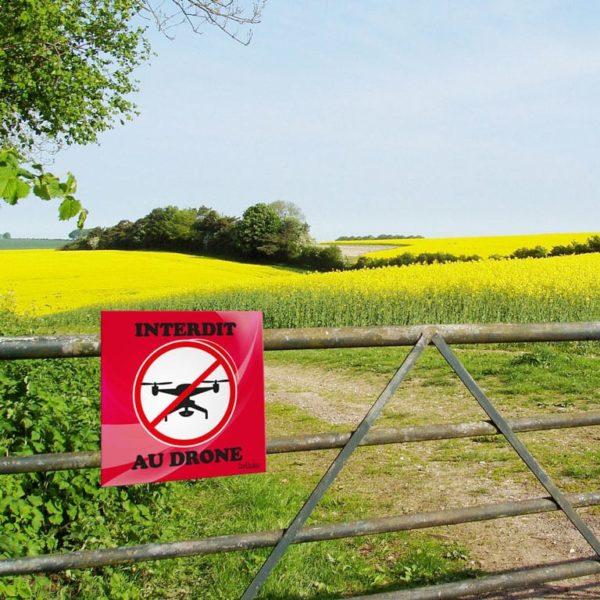 panneau interdit aux drônes