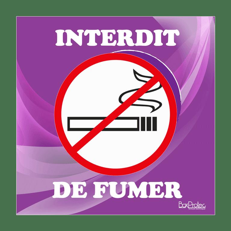 panneau interdit de fumer violet