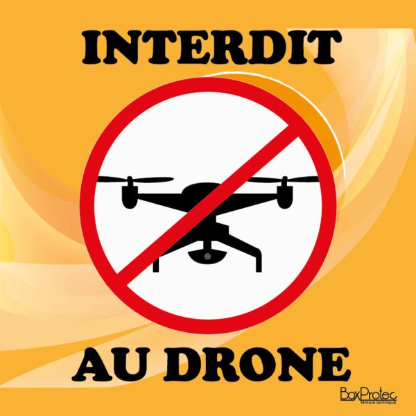 interdit au drone orange boxprotec