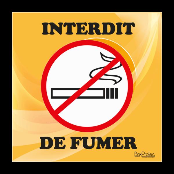 panneau interdit de fumer orange