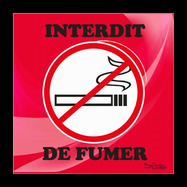 panneau interdit de fumer rouge