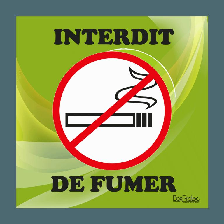panneau interdit de fumer vert