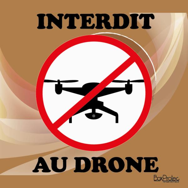 panneau signalétique interdit au drone