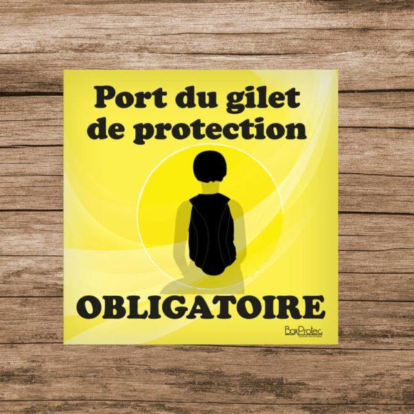 panneau port du gilet de protection obligatoire