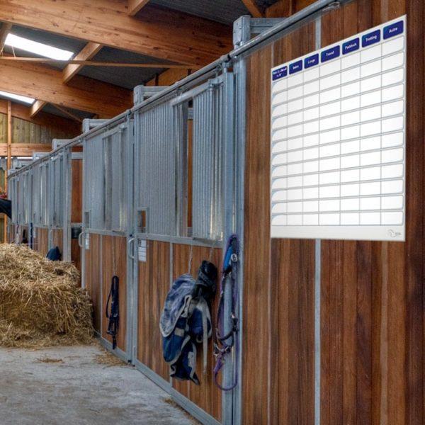 planning effaçable d'entrainement pour l'équitation