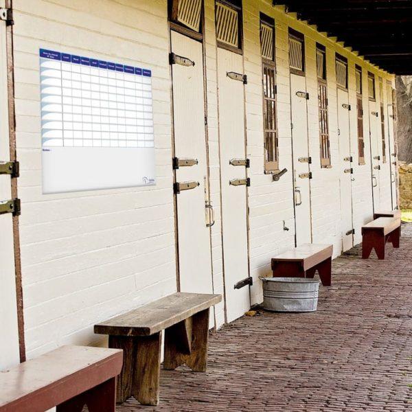 planning chevaux effaçable journalier et soins