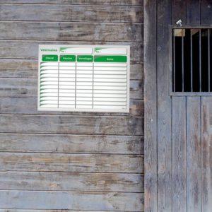 planning effaçable de vétérinaires pour chevaux
