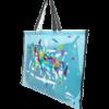 sac à tapis de selle décor design bleu