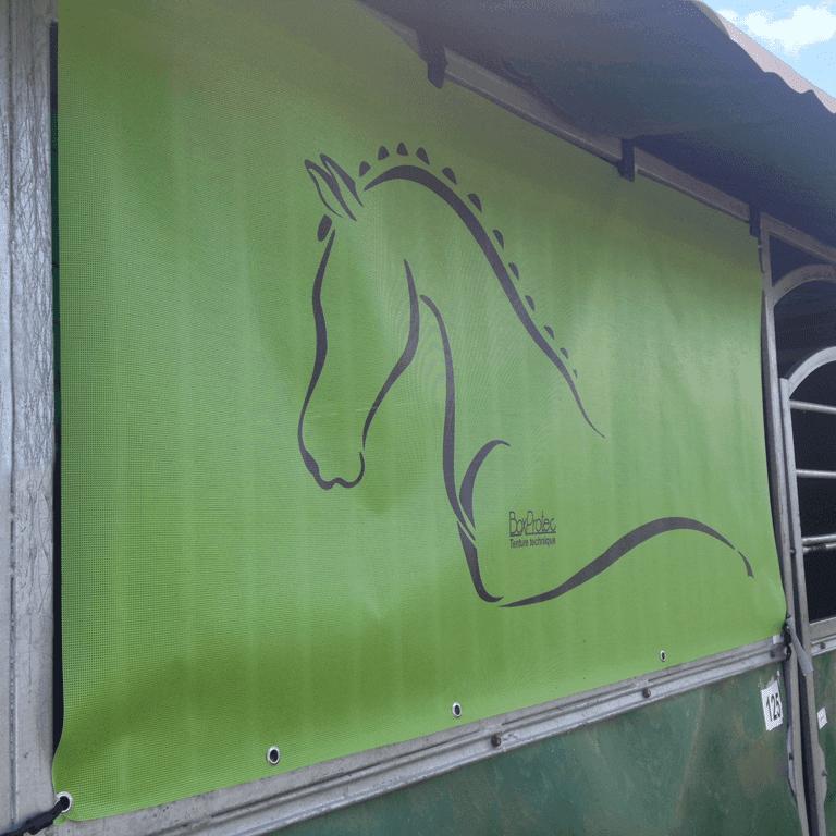 tenture de box standard verte