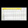tableau gestion de casque jaune