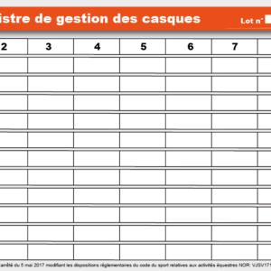 Planning GESTION des CASQUES 40 x 20 cm-0