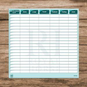 planning effaçable à personnaliser