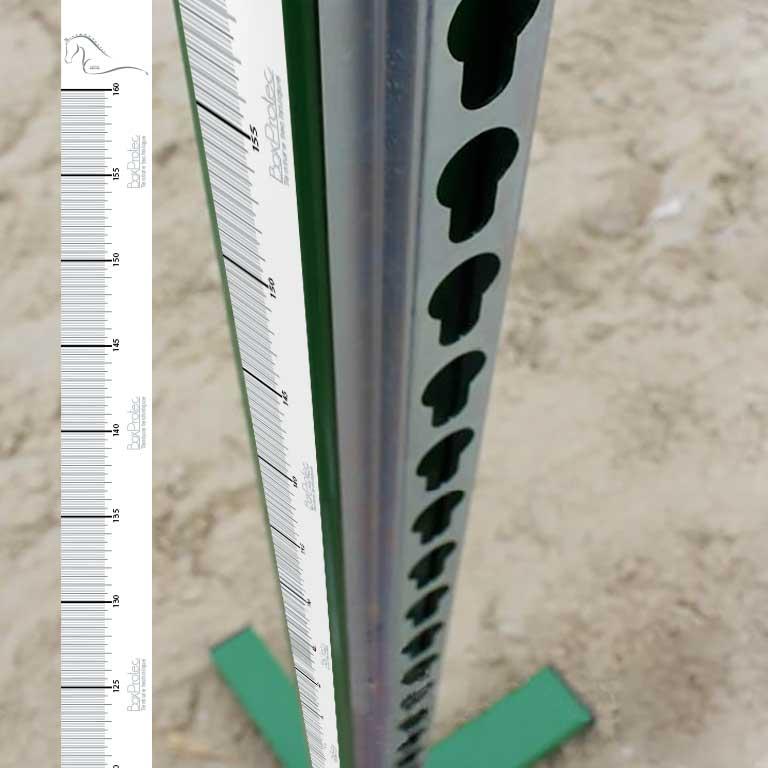 mètre autocollant pour chandelier d'équitation