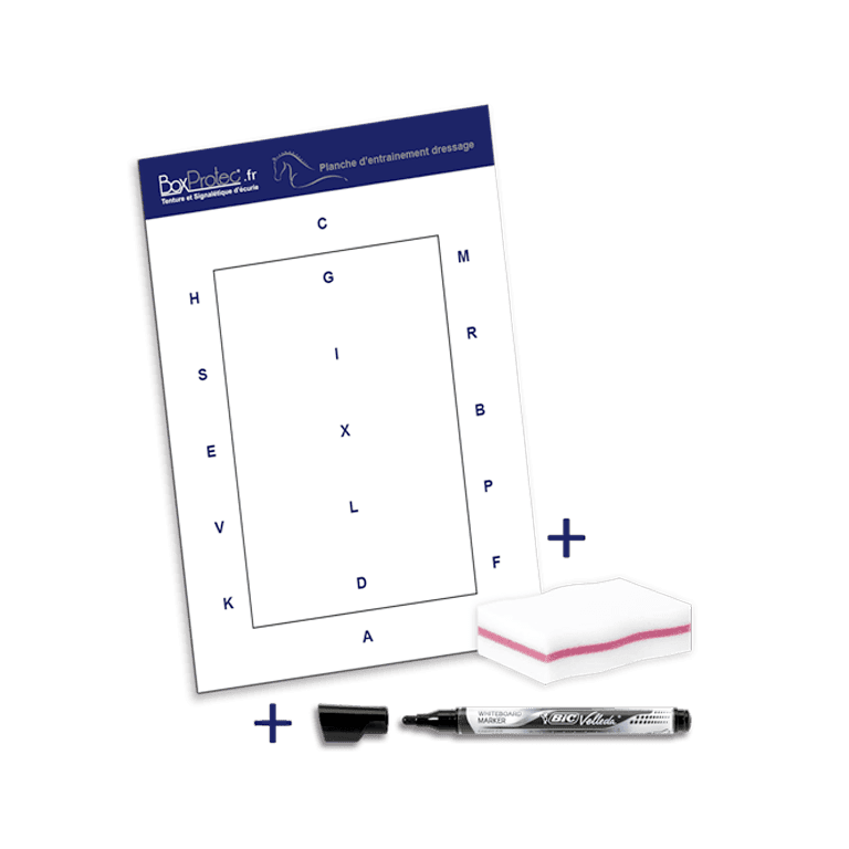 pack planche d'entrainement avec stylo effaçable et éponge effaceur