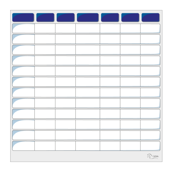 tableau effaçable pour planning vierge bleu