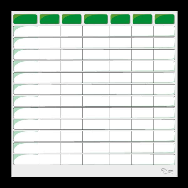 tableau effaçable pour planning vierge vert