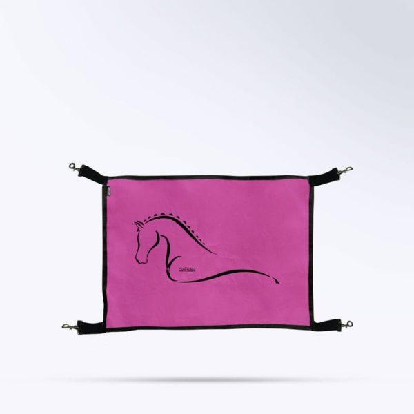 porte de box rose micro aéré pour écurie