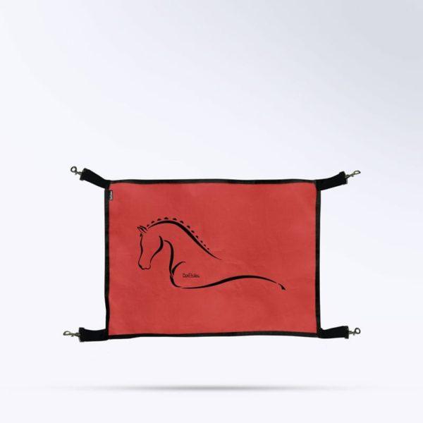 porte de box rouge micro perforé Boxprotec