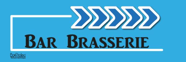 panneau flèche bar brasserie bleu fléchage boxprotec