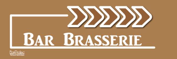 panneau flèche bar brasserie marron fléchage boxprotec