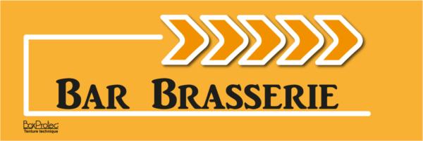 panneau flèche bar brasserie orange fléchage boxprotec