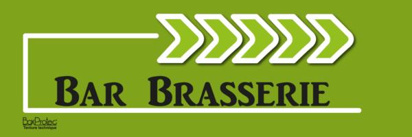 panneau flèche bar brasserie vert fléchage boxprotec