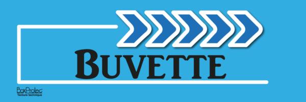 flèche buvette bleu fléchage boxprotec