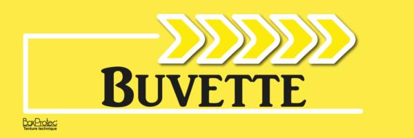 flèche buvette jaune fléchage boxprotec
