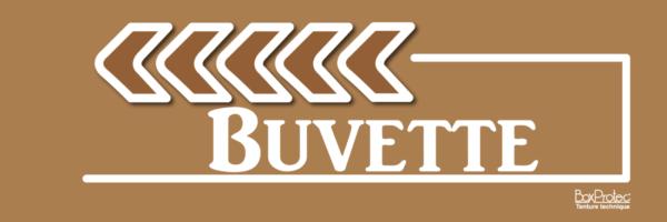 flèche buvette marron fléchage boxprotec