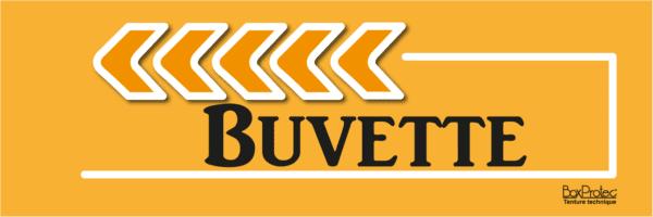 flèche buvette orange fléchage boxprotec