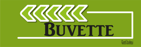 flèche buvette vert fléchage boxprotec