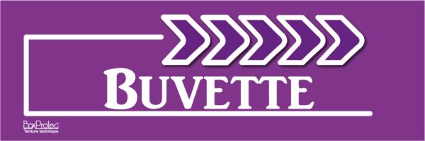flèche buvette violet fléchage boxprotec