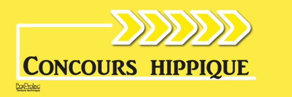 fléchage directionnel concours hippique jaune fléchage boxprotec