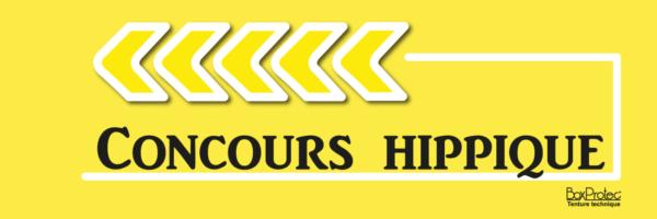 panneau publicitaire flèche concours hippique jaune fléchage boxprotec