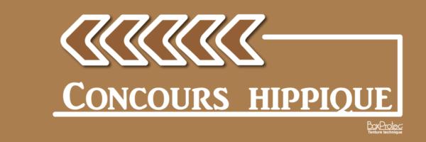 plaque fléchage concours hippique marron fléchage boxprotec