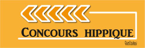flèche de direction concours hippique orange fléchage boxprotec