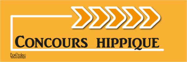 panneau flèche concours hippique orange fléchage boxprotec