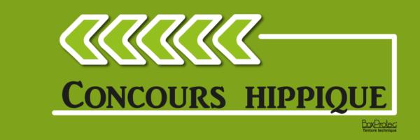 plaque de direction concours hippique vert fléchage boxprotec