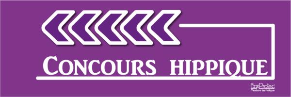 panneau fléchage concours hippique violet boxprotec