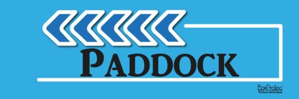flèche paddock bleu fléchage boxprotec