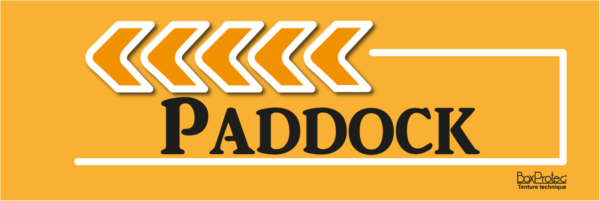 flèche paddock orange fléchage boxprotec