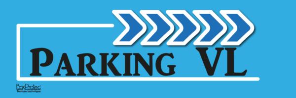 panneau de direction véhicule léger bleu fléchage boxprotec