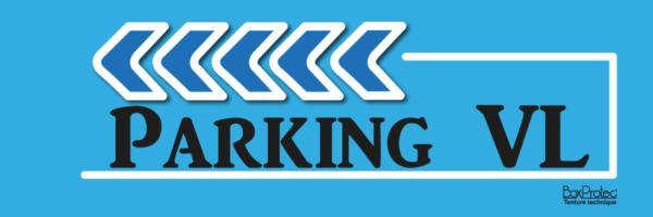 plaque directionnelle parking véhicule léger bleu fléchage boxprotec